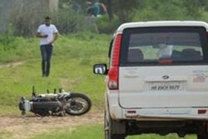 Three unidentified men armed with a countrymade pistol attacked a 36-year-old person in Sector 90, robbed him of Rs 1,500 and snatched his motorcycle, police said on Monday. (Photo by Parveen Kumar/Hindustan Times)