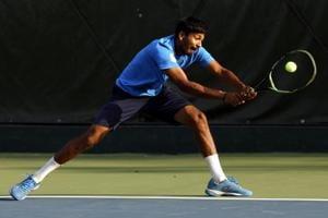 Anvit Bendre in AITA tennis tournament at Poona Club in Pune, India.