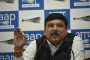 Senior Aam Aadmi Party (AAP) leader and Rajya Sabha member Sanjay Singh