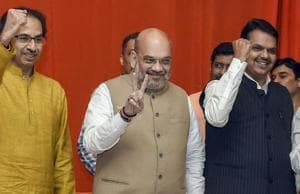 The saffron alliance won 42 of the 48 Lok Sabha seats in the 2014 general polls (the BJP won 23 seats on its own), an unprecedented win that reduced the then ruling parties to single digits.