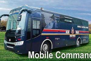 A mobile control room that can be used on the road during public events in the city was launched by the Delhi Police on Tuesday.
