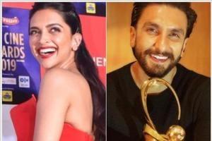 Deepika Padukone and Ranveer Singh recreate their wedding at the Zee Cine Awards.
