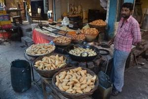 """UP Congress spokesman said, """"We have placed orders for four quintals of 'gujhiya' with a shop in Loknath area."""