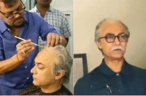 Aamir Khan wore a wig and a fake moustache in the video.