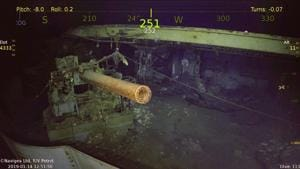According to the US Navy's policy of leaving its shipwrecks untouched -- considering them as the sailors' hallowed graves -- the Wasp's hull will remain in the murky depths.