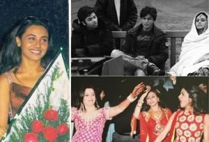 Rani Mukerji is seen with Aishwarya Rai, Shah Rukh Khan  and at Farah Khan's wedding in these throwback pictures.