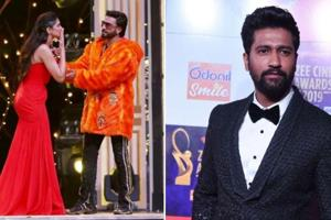 Deepika Padukone and Ranveer Singh had to take pheras around Vicky Kaushal at Zee Cine Awards.