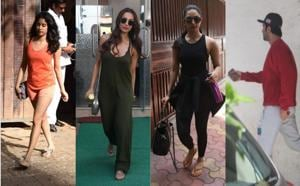 Janhvi Kapoor, Malaika Arora, Kiara Advani and Ranbir Kapoor spotted in Mumbai on Friday.