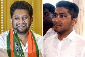 BJP 's Sujay Vikhe-Patil (left) and NCP's Sangram Jagtap are the two main contenders in Ahmednagar Lok Sabha constituency.