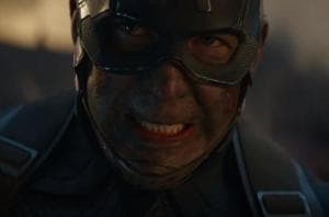 Captain America in a still from the latest Avengers: Endgame trailer.