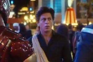 Shah Rukh Khan in the new Avengers promotional video.