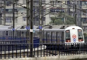 A Delhi Metro Rail Corporation (DMRC) official said service on the Blue Line between Noida's Electronic City and Dwarka was resumed after seven minutes.