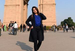 Actor Kirti Kulhari visited the India Gate on her recent trip to Delhi.
