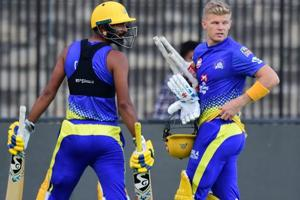 Chennai Super Kings (CSK) player Sam Billings at a practice session ahead of IPL 2019.