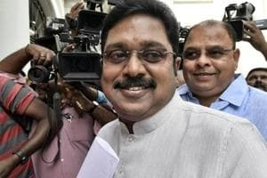Rebel AIADMK leader TTV Dhinakaran in Chennai.