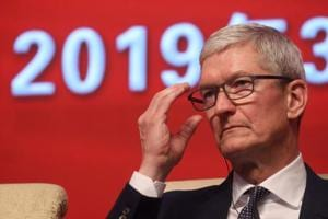 Apple CEO Tim Cook attends the Economic Summit held for the China Development Forum in Beijing on March 23, 2019