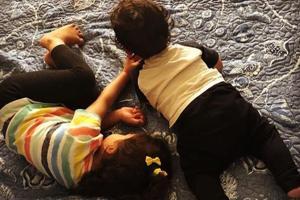 Mira Rajput shared a new photo of her children Misha and Zain.