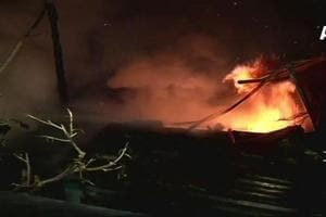 A level-one fire broke out at Mumbai's Byculla vegetable market late Sunday night.