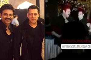 Salman Khan grooves with Venkatesh Daggubati at the pre-wedding bash for the Telugu actor's daughter.