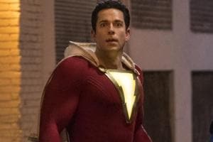 This image released by Warner Bros. shows Zachary Levi  in a scene from Shazam!.