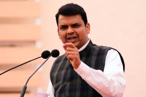 Pune, India - Feb. 21, 2018:Devendra Fadnavis,Chief Minister of Maharashtra speaks during the inaugural function of SYMBHAV, an annual function of Symbiosis College in Pune, India, on Wednesday, February 21, 2018. (Photo by )