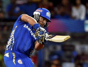 Yuvraj Singh plays a shot during an IPL 2019 encounter.