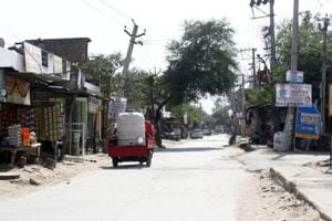 The 60-65-feet-wide road has narrowed to around 25 feet, because of encroachments.