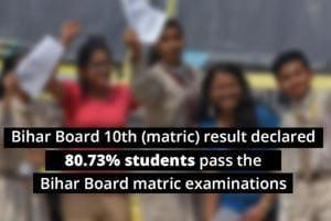Bihar Board 10th matric result 2019 declared, 80.73% students pass