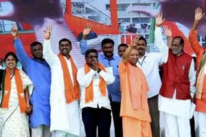 Lok Sabha elections 2019: 'TRS, Owaisi brothers working to destroy India', says Adityanath