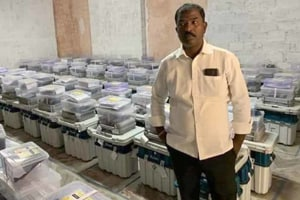 TRS leader arrested for clicking picture inside EVM strongroom in Telangana