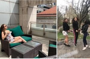 Before Sara Ali Khan starts shooting Coolie No 1 with Varun Dhawan, she's enjoying a New York vacation with her besties