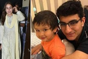 Sara Ali Khan shares pic of her 'Easter bunnies' Taimur and Ibrahim, steps out with mom Amrita for a movie