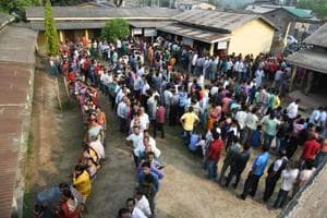 Photos: 13 states, 2 UTs vote in biggest phase of Lok Sabha elections