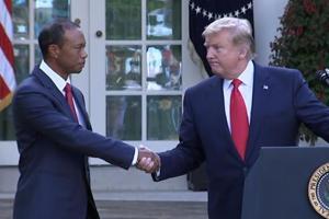 Donald Trump awards highest US civilian honour to Tiger Woods