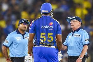 IPL Final, MI vs CSK: Kieron Pollard fined for showing dissent at Umpire's decision