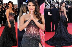 Cannes 2019: Priyanka dazzles in a black gown by Roberto Cavalli