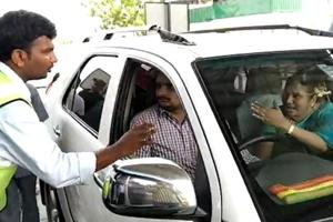 Watch: Andhra minister's wife creates ruckus at toll plaza over Rs 56