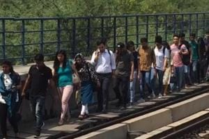 Delhi Metro: Passengers stranded at Chattarpur station after technical ...