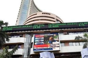 The benchmark BSE Sensex jumped over 150 points in early trade Wednesday, led by gains in oil and gas, banking and IT stocks, ahead of the general election results.