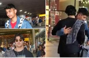 Saif Ali Khan's son Ibrahim and Akshay Kumar's son Aarav share a hug at airport- Watch video