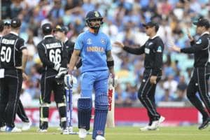 Electing to bat in the warm-up game against New Zealand, India suffered an early collapse in slightly bowling-friendly conditions at The Oval before being bowled out for 179 in 39.2 overs.