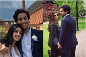 Shweta Nanda shares pictures of son Agastya, daughter Navya Naveli from his graduation ceremony in London
