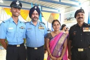 IAF chief BS Dhanoa gifts his 'wings' to new flying officer