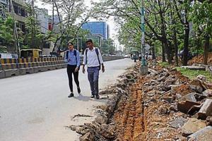 Udyog Vihar roads remain dug up, area faces threat of waterlogging