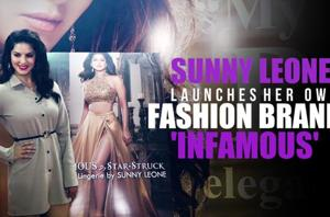Sunny Leone launches her own fashion brand 'Infamous' in Mumbai