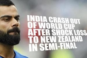 India crash out of World Cup after shock loss to New Zealand in semi-fi...