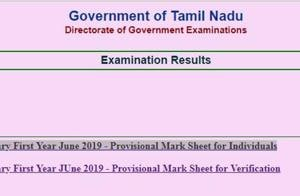 Tamil Nadu TN +1 supplementary result 2019 declared, know steps to check
