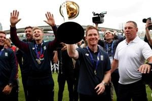 Piers Morgan taunts Virender Sehwag after England's maiden World Cup title win