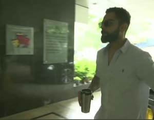 Virat arrives for meeting to select Team India's squad for West Indies tour