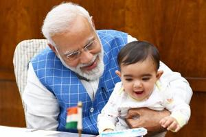 PM Modi meets special guest in Parliament. Pictures will make you smile